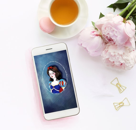 Iphone Wallpaper Snow White Disney Fanart Cell Phone Wallpaper Smartphone Wallpaper Original Screen Background