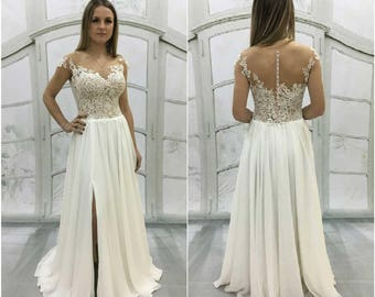 Beach Style Wedding Dresses with Lace