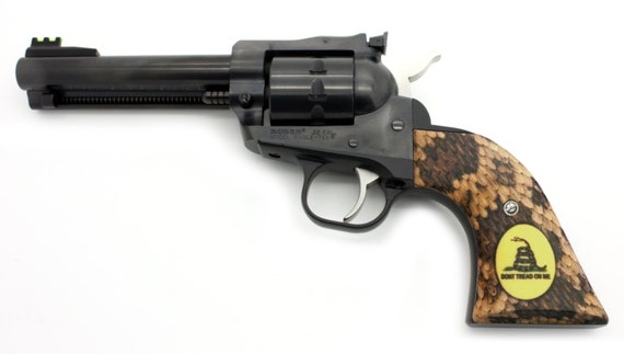 Custom Ruger Don/'t Tread on Me Rattler Grips OLD Vaquero XR3-RED Frame Revolvers