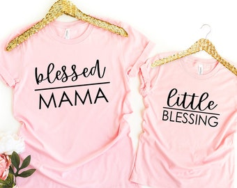 0934b670 Blessed Mama and Little Blessing .SVG digital File   cricuit svg   Mom svg    Matching svg   Mommy and Me   cut file   handlettered svg file