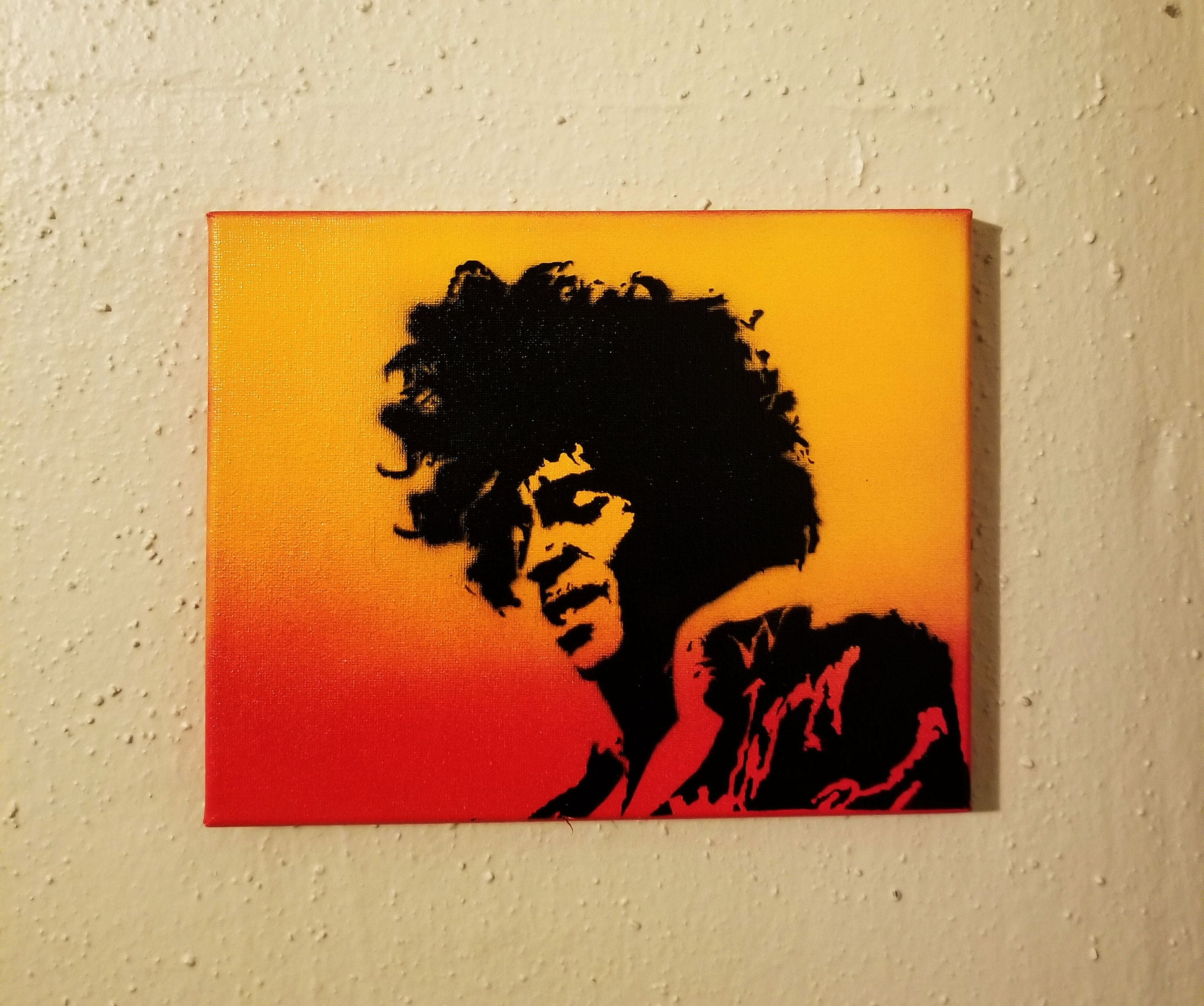 Prince Flame Painting on 8 x 10 Canvas Art Spray | Etsy