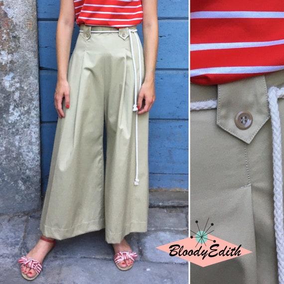 size S,M Vintage 1930s 1940s Style Light Coral Cotton Gabardine Pants