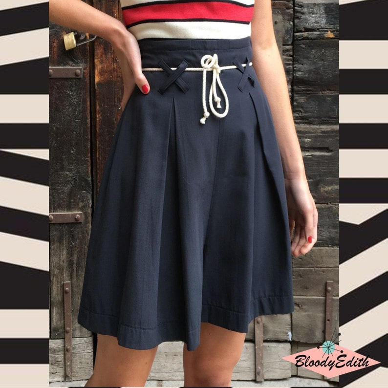 Vintage High Waisted Shorts, Sailor Shorts, Retro Shorts 1940s Style