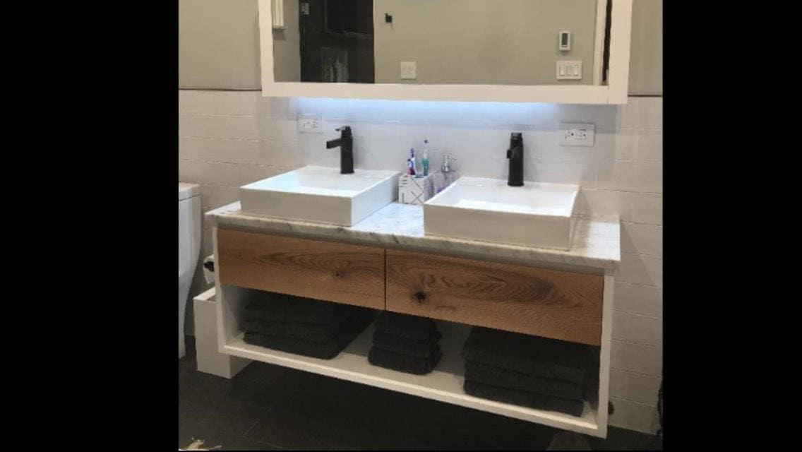 Floating Bathroom Vanity Modern Bathroom Vanity Rustic | Etsy