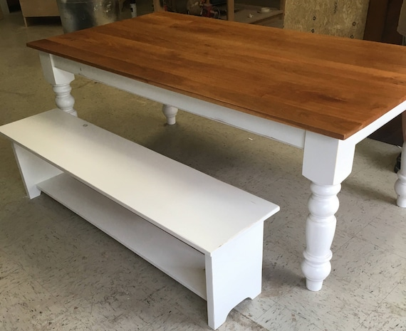 Cherry Farmhouse Table, Dining Room Table, Farmhouse Table, Kitchen Table