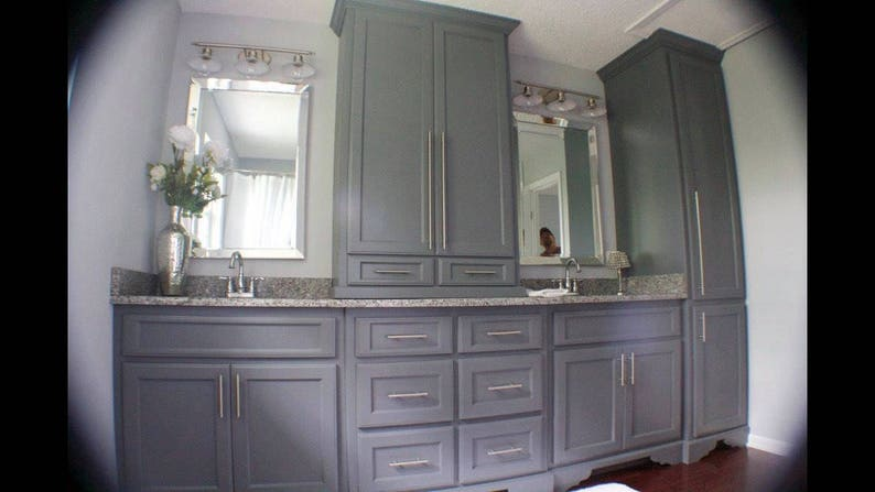 Bathroom Vanity Cabinet, Bathroom Cabinet With Tower, Gray Bathroom Vanity,  Modern Bathroom Vanity,