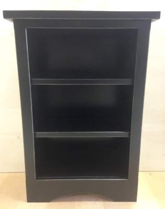 Modern Black Bookshelf Custom Distressed