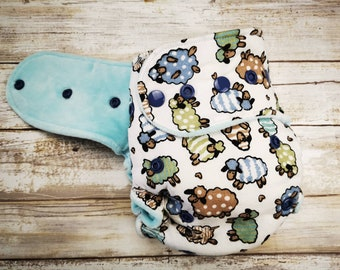 Organic Cloth Diaper, Hybrid Fitted or All In Two, One Sized