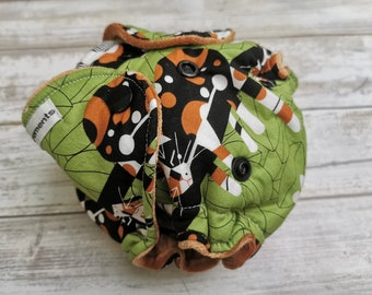 Newborn Organic Cloth Diaper, Hybrid Fitted or All In Two