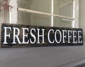 Distressed Coffee Sign - Coffee - Coffee Sign - Rustic Coffee Sign