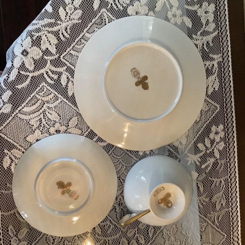 Gilded Tea Cup Trio Bavarian Gilded Nymphs and Fairies Motif Tea Cup /& Plate