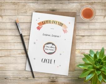 Scratch - original wedding announcement cards
