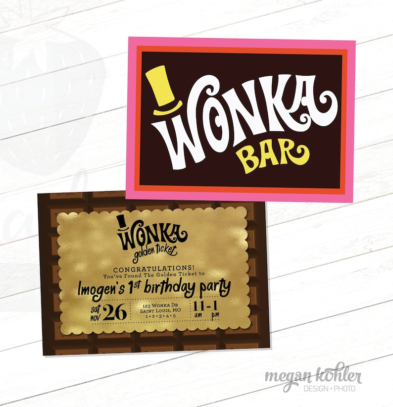 picture relating to Wonka Bar Printable known as Sweet Invitation - Wonka Bar - Printable Birthday Invitation - Invite - Matching Again Layout