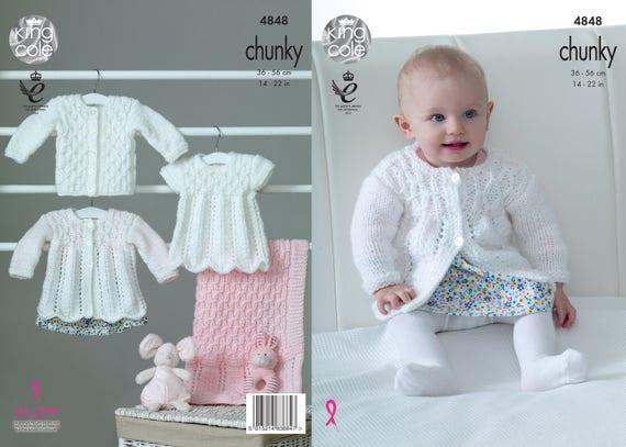 52b44f72fd21 Matinee Coat Angel Top Cardigan   Blanket Knitting Pattern
