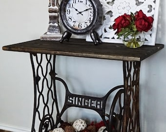 Singer Sewing Machine Table   Etsy