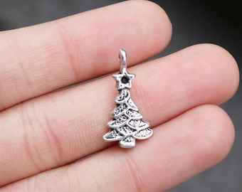 100pcs Tibetan Silver Christmas Snowflake Pendant Charms For Jewelery 15x20mm