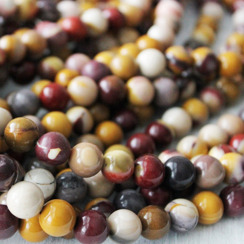 Mookaite beads 6mm round Natural Gemstone Multi Color image 0