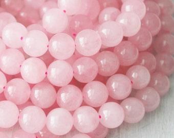 10mm Rose Quartz A Quality Gemstones Pink Stone Beads Mala Beads Pink Gemstone Beads