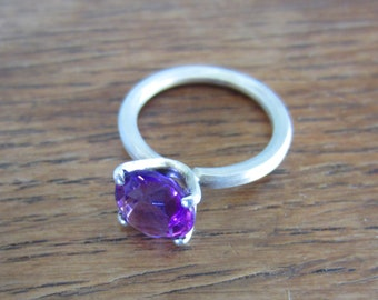 Amethyst Ring with claw setting