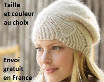 469cac37424aa Bonnet slouchy et/ou snood alpaga femme tricoté main, béret, chapeau,  écharpe, foulard, châle, accessoire automne hiver, cadeau Noël