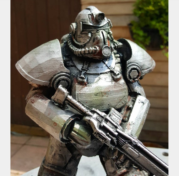 T51 Power Armor Fallout 4 Display 6 Und 10 Zoll Etsy