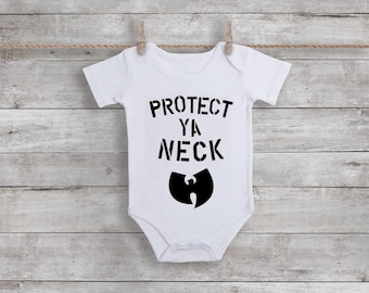 Wu-Tang Creeper | Protect Ya Neck | Wu-tang Is For The Children | Pun Intended | Baby Creeper | Hip Hop Nation | 90's Baby Bib