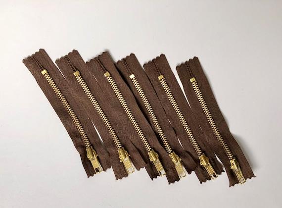 Ykk cremallera 2 vías divisible 5mm negro marrón 95 cm de metal dientes de metal