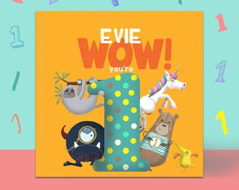 Personalised 'Wow You're One' 1st Birthday Children's Book | First Birthday Gift | Personalised Birthday Book | 1st Birthday | Personalized