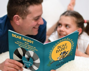 Personalised Dear Daddy Book   Father's Day Gifts   Birthday Gift for Dad   Gifts for Dad   Gifts From the Kids   Personalized Story
