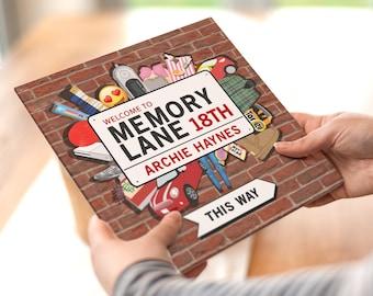 Personalised 18th Birthday Book   Memory Lane Birthday Gift   Personalized 18th Birthday Gift   Milestone Birthday Fact Book Gift   Happy 18