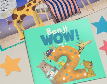 Personalised 'Wow You're Two' 2nd Birthday Children's Book | Second Birthday Gift | Personalised Birthday Book | 2nd Birthday