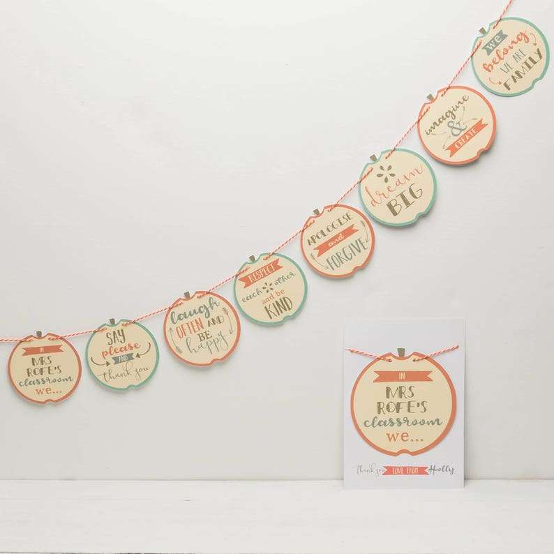 d0ef60608ba Personalised Bunting For Teachers Gifts for Teachers Thank