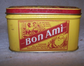 Vintage Bon Ami Tin, artwork by Ben Austrian