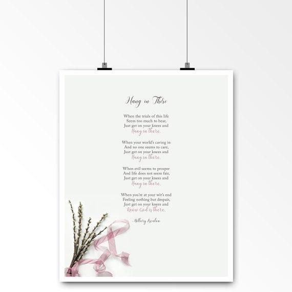 Ermutigung Gedicht Für Freund Familie Oder Kollegen Gedicht Komfort Original Gedicht Von Hillary Ascalon 5 X 7 8 X 10 Art Print Ungerahmt