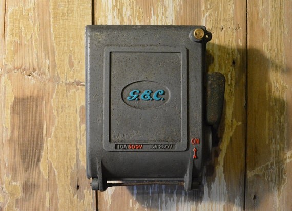 Cast Iron Key Safe Storage Box - Converted from an Antique 1940's G&C Vintage Car Fuse Box on