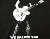 AC DC Malcolm Young Tribute shirt - We Salute You Malcolm T-Shirt ACDC Size S - Limited Discounted Price