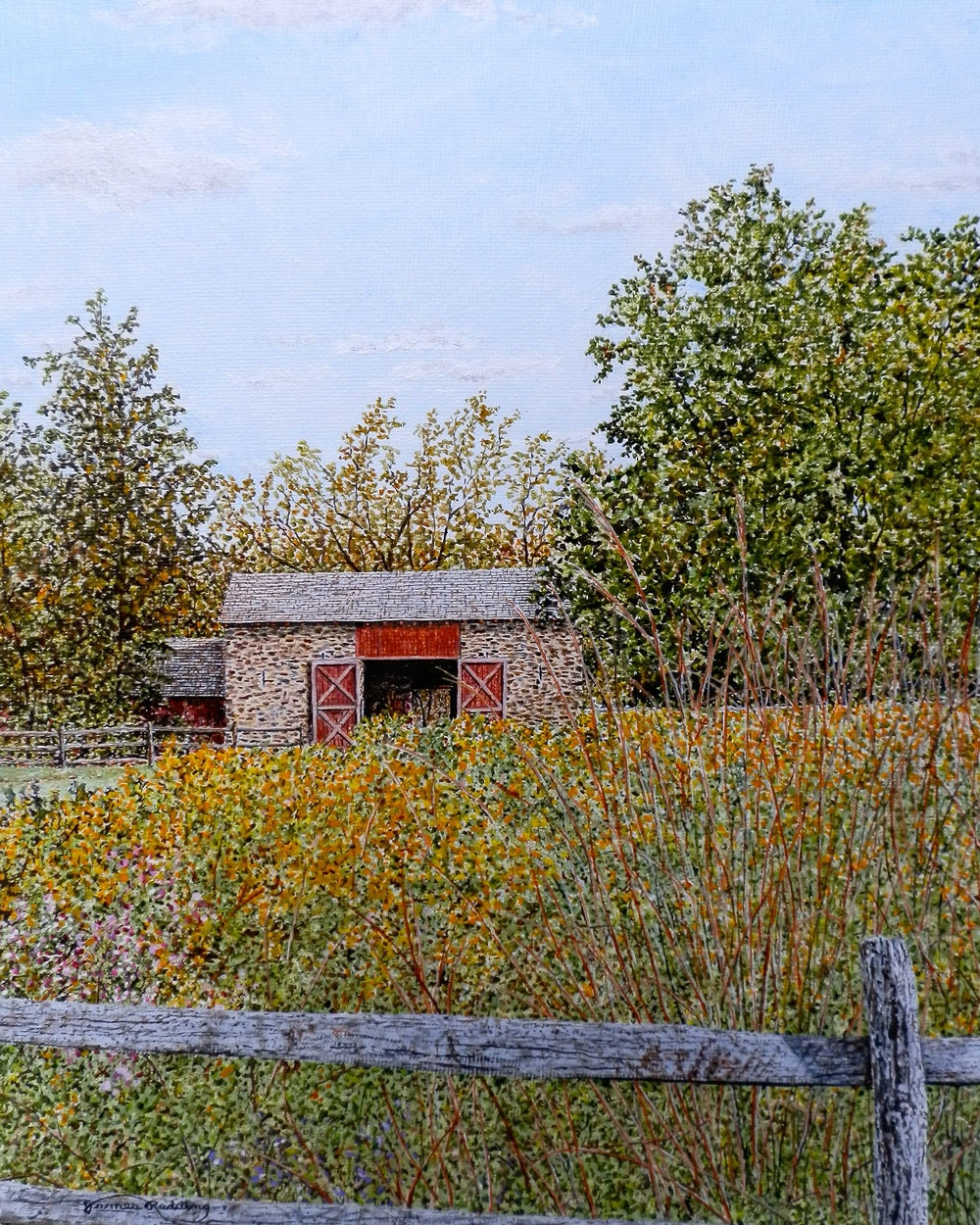 Barn Painting Fall Harvest Decor Farm Painting Fall