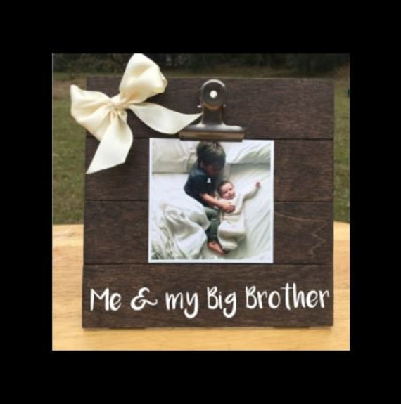 Me And My Big Brother Siblings New Baby Birth Announcement Etsy