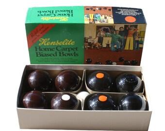 Vintage Henselite Home Carpet Biased Bowls