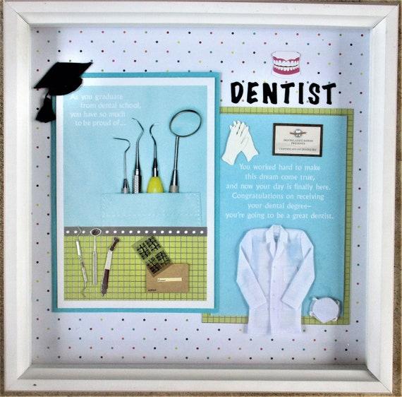 Dental School Graduation Dentist Cap And Gown Frame Framed Etsy