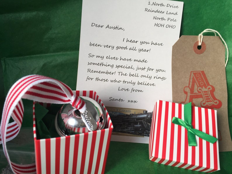 50 x 5cm Personalised Wrapped by Elves for Santa Labels Cards Presents Gifts Xmas Kids