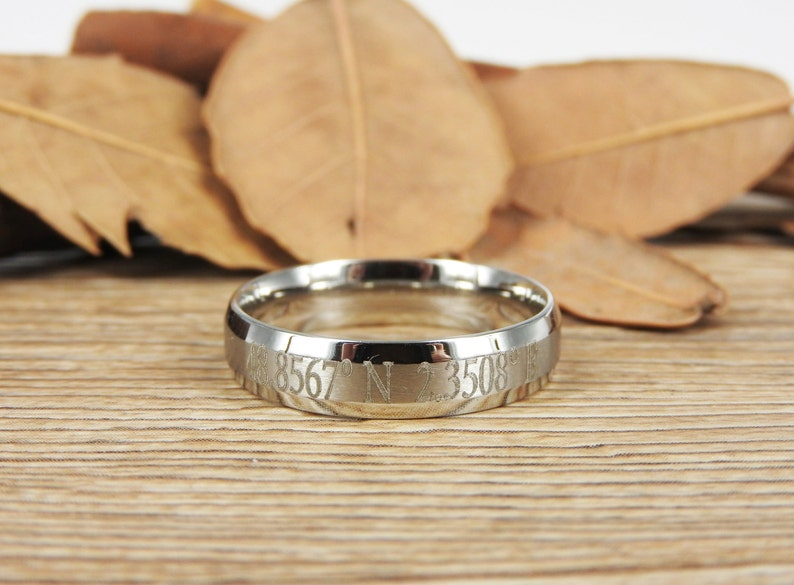 Coordinate Ring Personalized Ring Longitude Latitude Latitude Longitude Ring Personalized Jewelry,ring coordinates