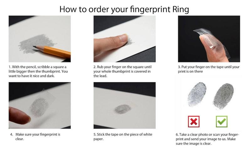 Couple Matching Blue Titanium Wedding Bands Rings Set Unique Finger Print Rings Engraved Rings Set