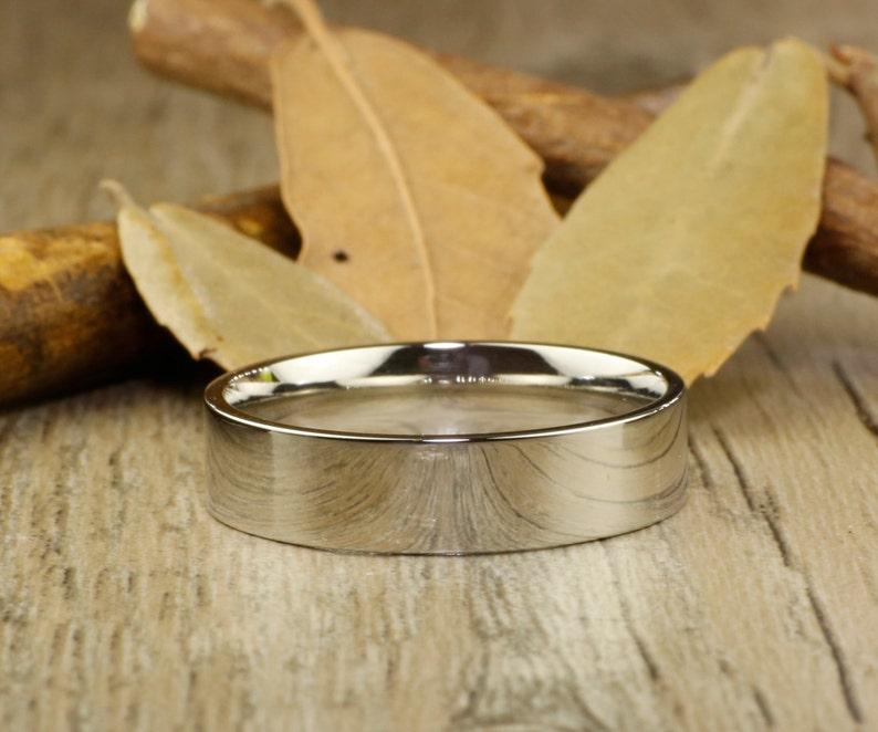 Sliver  Wedding Titanium Rings Set His and Her Promise Rings