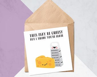 I Think Youre Grate Cute Birthday Cards Valentines Greeting Card 50