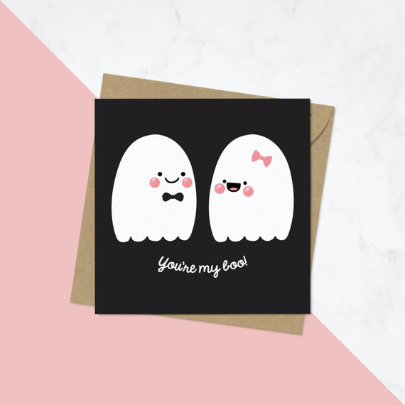 You Re My Boo Valentine S Cards For Boyfriend Love Etsy