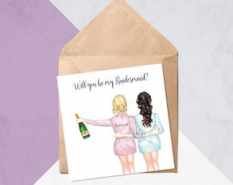 Will You Be My Bridesmaid? // Will You Be My Bridesmaid Cards // Wedding Cards // Greeting Card #283