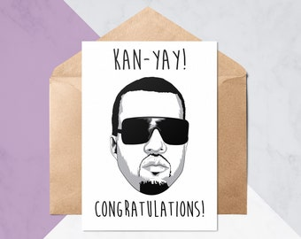 Kan-Yay! Congratulations Card // Graduation Cards // New Job Card // Congrats Cards // Pop Culture Cards // Greeting Card #250
