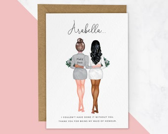 Personalised Thank You For Being My Bridesmaid Card, Thank You Card, Maid of Honour Card, Bridesmaid Proposal Card, Bridesmaid Cards #521