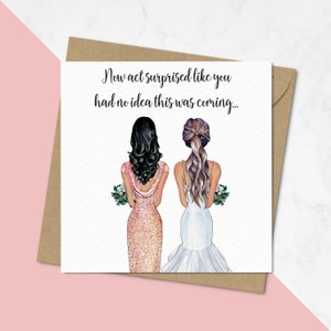 Custom Illustrated Wedding Party Ring Illustration Will You Be My Bridesmaid Ask Cards Bridal Party Silver Glitter Personalized